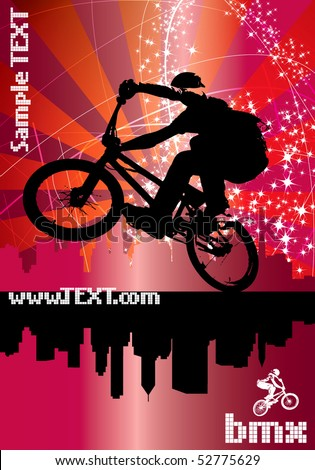 Poster of BMX cyclist