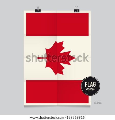 poster of the canada flag