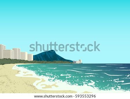 poster of waikiki beach of oahu