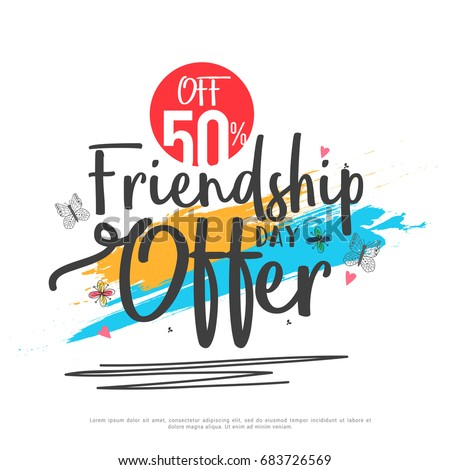Poster Or Banner Of Happy Friendship Day Background.