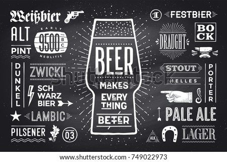 poster or banner with text beer