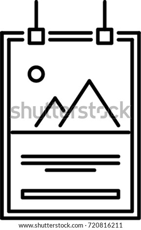 poster outline icon