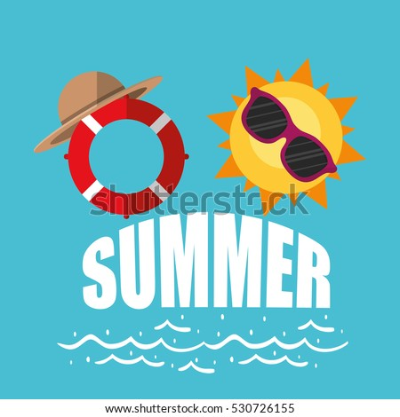poster summer sunny sunglasses