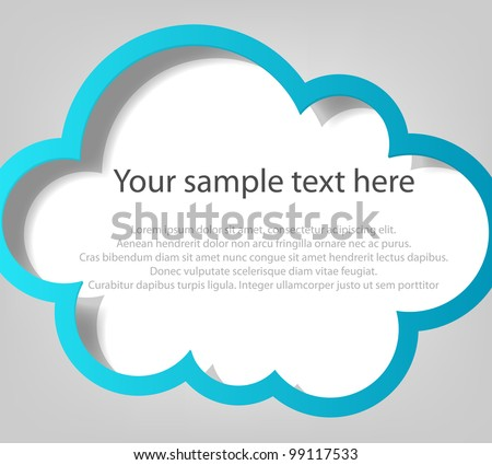 Poster template. Blue cloud