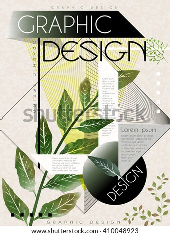 poster template design with