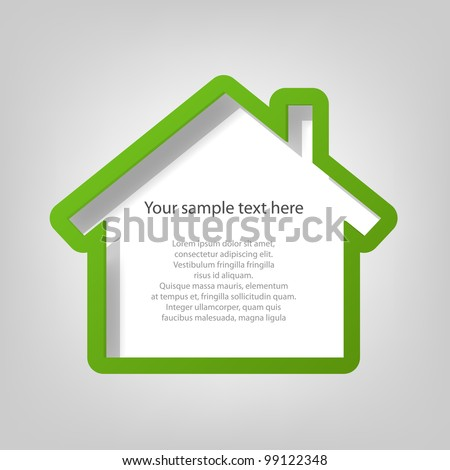 poster template. house