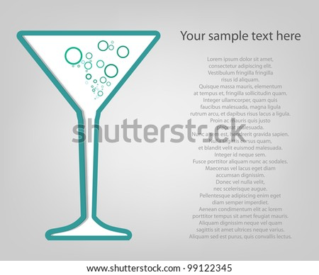 poster template. martini glass