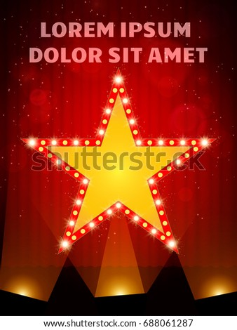poster template star banner