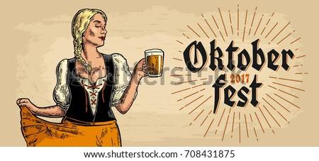 poster to oktoberfest festival. ...