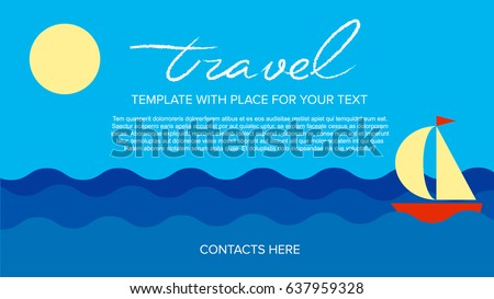 poster vector template with sea