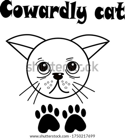 poster with a cat from the