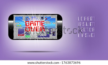 poster with a mobile gadget