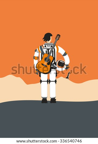 poster with an astronaut
