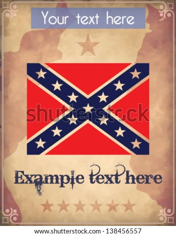 Poster with confederate flag