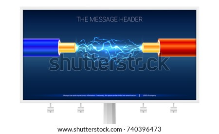 poster with electric cable and