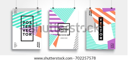 poster with flat geometric