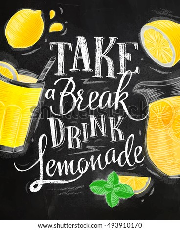 poster with lemonade elements
