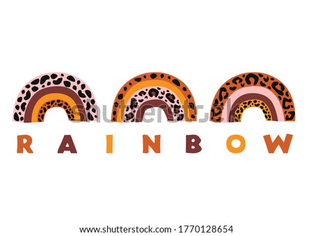 poster with three rainbows