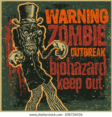 poster zombie outbreak sign