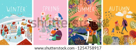 posters of seasons  winter