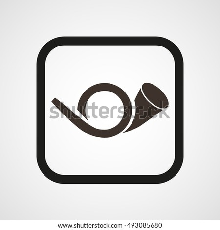 postman horn icon flat simple