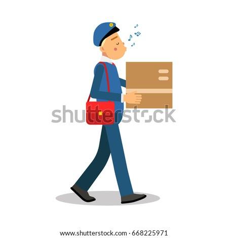 postman in blue uniform