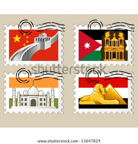 Postmarks - sights of the world series - Asia