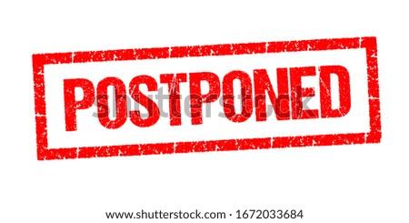 Postponed stamp vector on white background Stockfoto ©