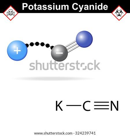 potassium cyanide molecule