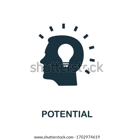 Potential icon. Simple element from consulting collection. Filled Potential icon for templates, infographics and more. ストックフォト ©