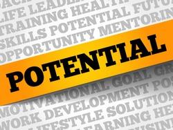 Potential word cloud, business concept