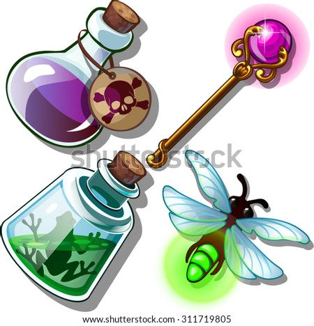 potions and items from the