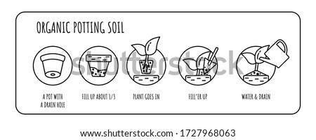 potting mix concept organic