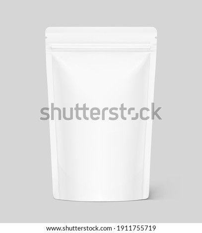 Pouch bag mockup. Vector illustration. Front view. Can be use for template your design, presentation, promo, ad. EPS10. Сток-фото ©