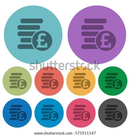 pound coins darker flat icons