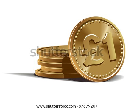 Pound Currency Coin Pound Coins Vector