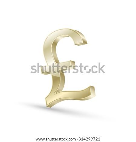Golden Pound Sign 3d Render Ez Canvas