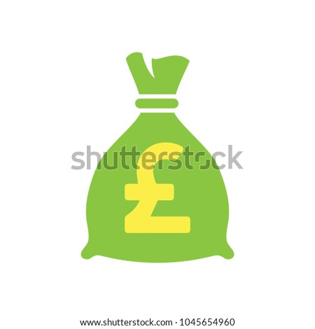 pound Money bag icon, investment symbol