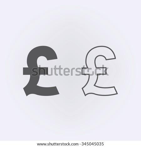 Pound outline sign . Money symbol . Vector illustration