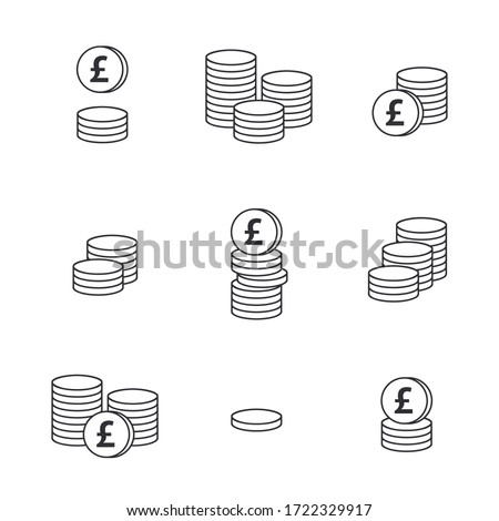 Pound sign. Coin icon. English currency pound. Vector money symbol. Bank payment symbol. World economics. Finance symbol. Currency symbol. Currency exchange. Pound money. Cash. Currency exchange.