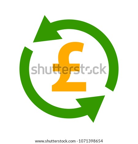 Pound sign icon, currency sign - money symbol, vector cash illustration