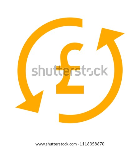 Pound sign icon. currency symbol. Money button