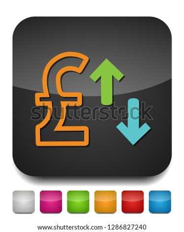 Pound sign icon, money Pound illustration - vector cash illustration, money symbol