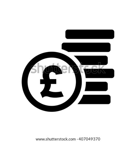 Pound sign . Money symbol . Vector illustration