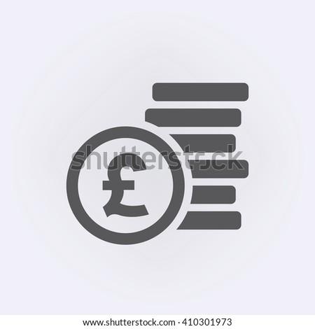 Pound sign . Money symbol . Vector illustration