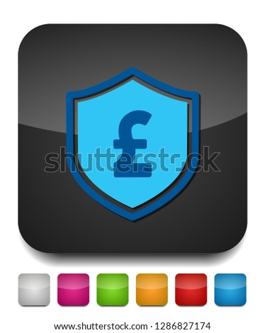 pound sign, vector money symbol - currency illustration