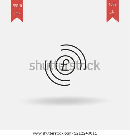 Pound Sterling linear vector icon. Pound Sterling concept stroke symbol design. Thin graphic elements vector illustration, outline pattern on a white background, EPS 10.