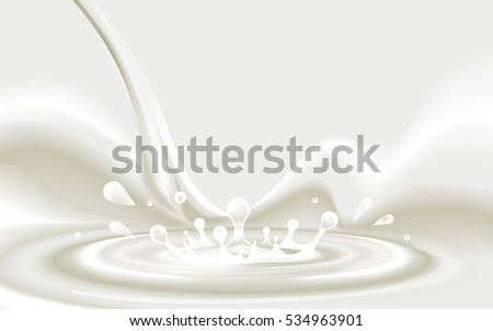 pouring milky white liquid
