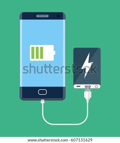 Power bank charging mobile phone