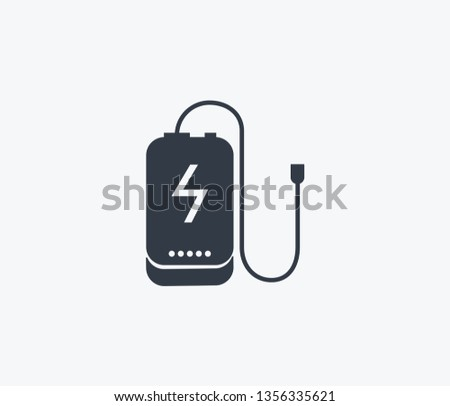 Power bank icon isolated on clean background. Power bank icon concept drawing icon in modern style. Vector illustration for your web mobile logo app UI design.